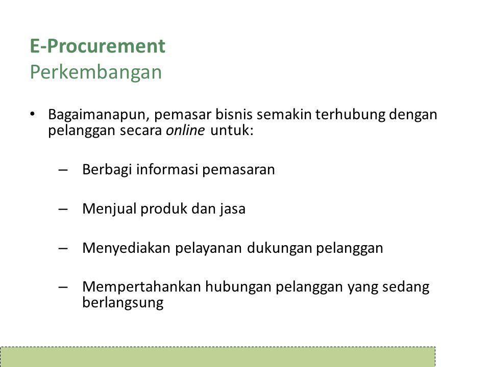 E-Procurement Perkembangan