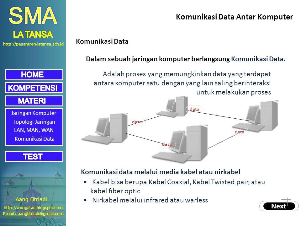 SMA Komunikasi Data Antar Komputer LA TANSA Komunikasi Data
