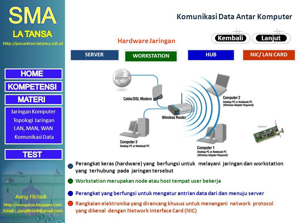 SMA Komunikasi Data Antar Komputer LA TANSA Hardware Jaringan Kembali