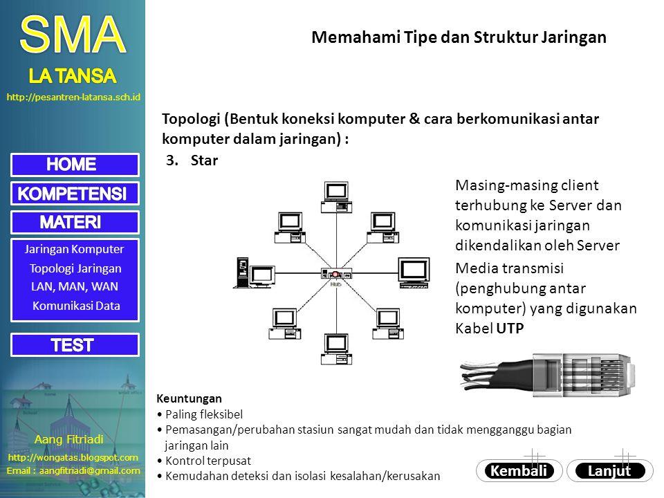 SMA Memahami Tipe dan Struktur Jaringan LA TANSA