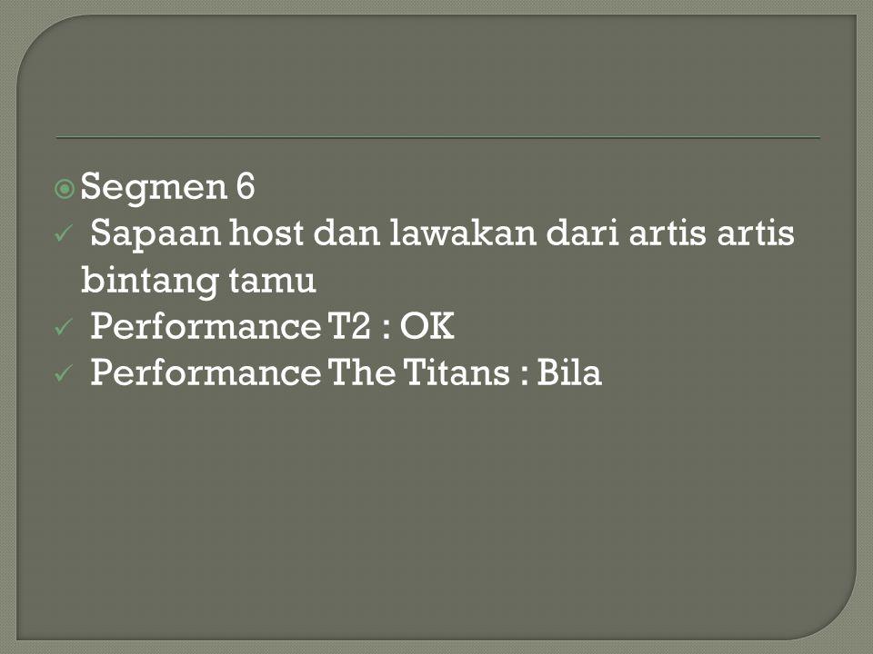 Segmen 6 Sapaan host dan lawakan dari artis artis bintang tamu.