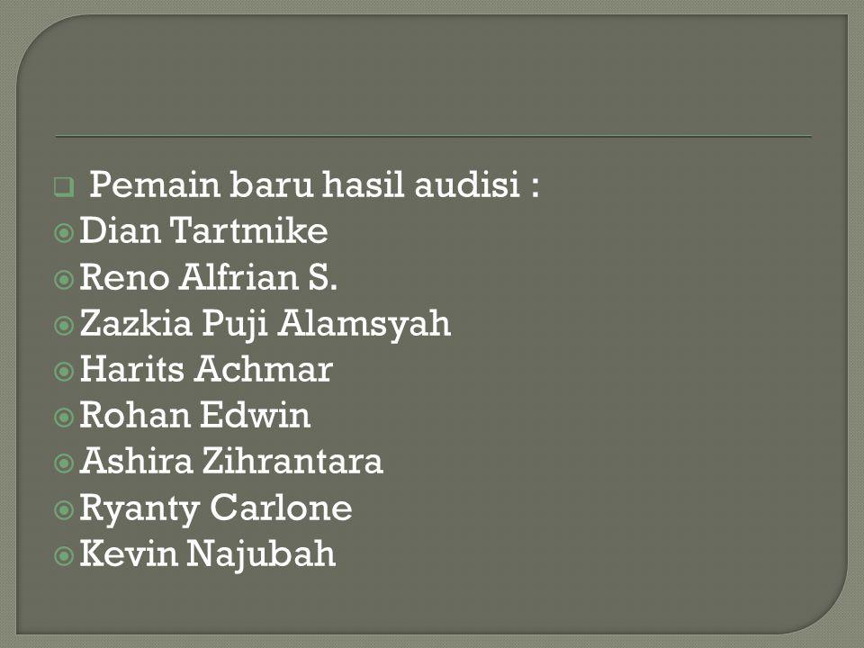 Pemain baru hasil audisi :