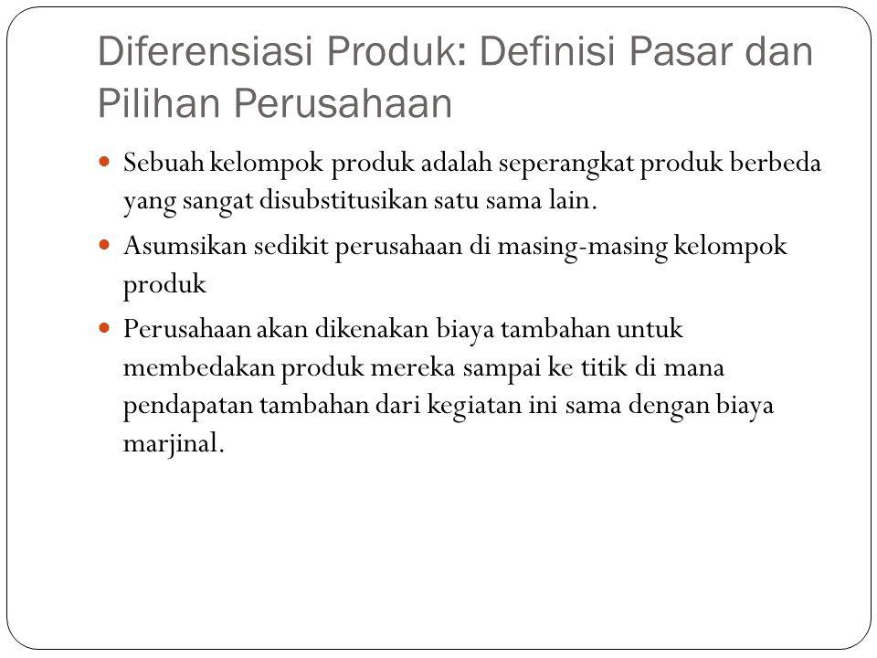Diferensiasi Produk: Definisi Pasar dan Pilihan Perusahaan