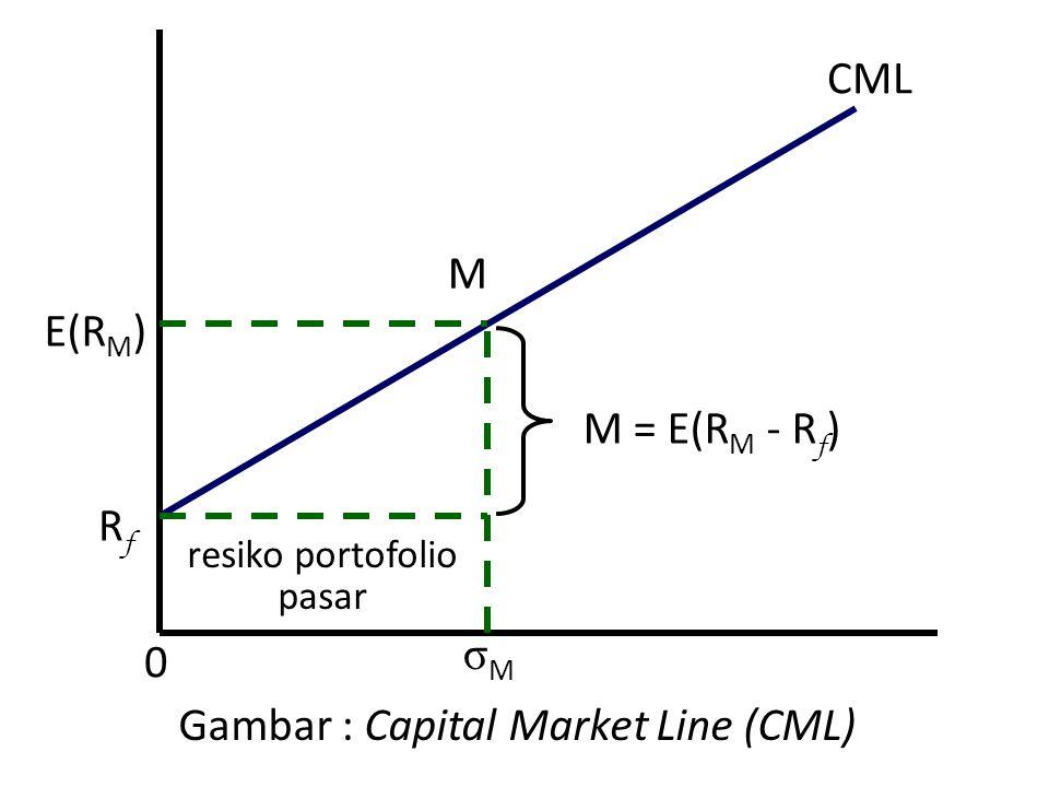 Gambar : Capital Market Line (CML)