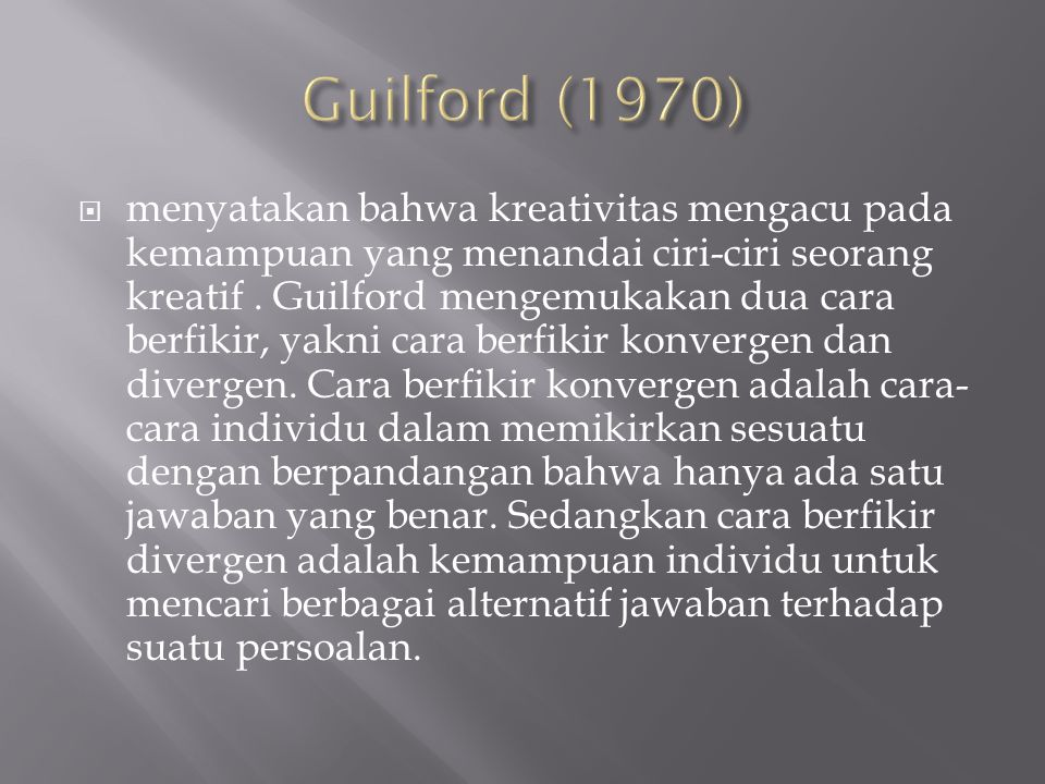 Guilford (1970)