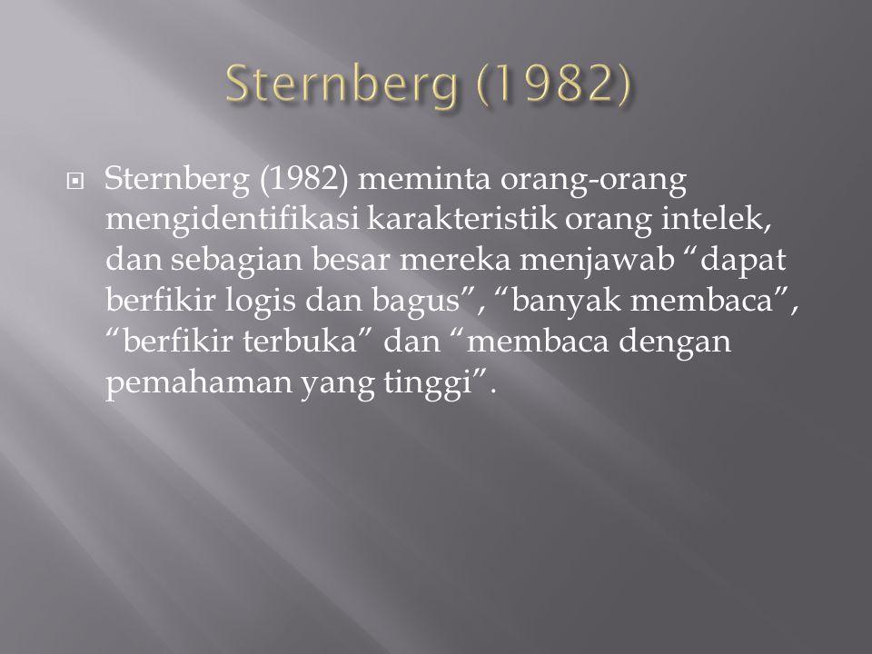 Sternberg (1982)