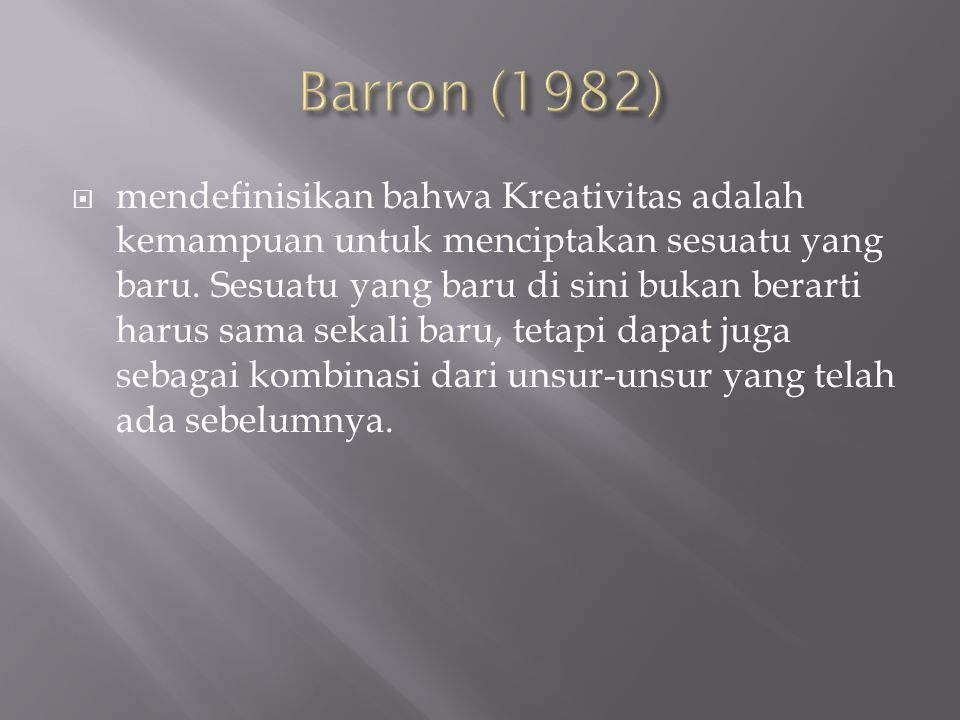 Barron (1982)
