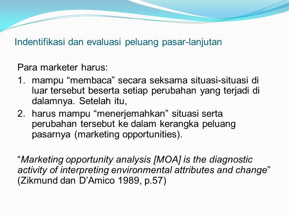 Indentifikasi dan evaluasi peluang pasar-lanjutan