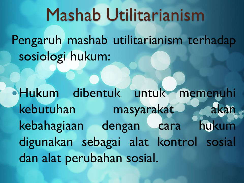 Mashab Utilitarianism