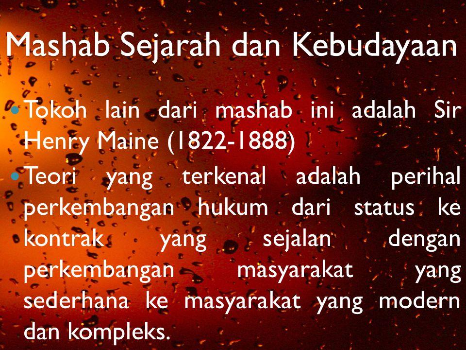 Mashab Sejarah dan Kebudayaan