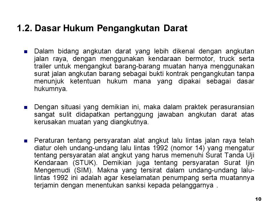 1.2. Dasar Hukum Pengangkutan Darat
