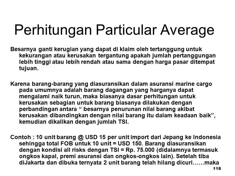 Perhitungan Particular Average