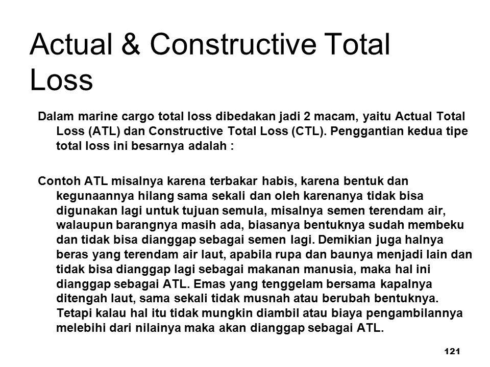 Actual & Constructive Total Loss