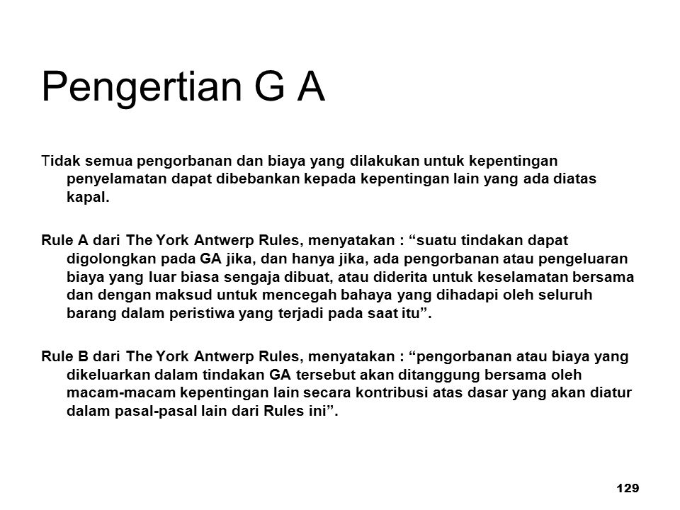 Pengertian G A