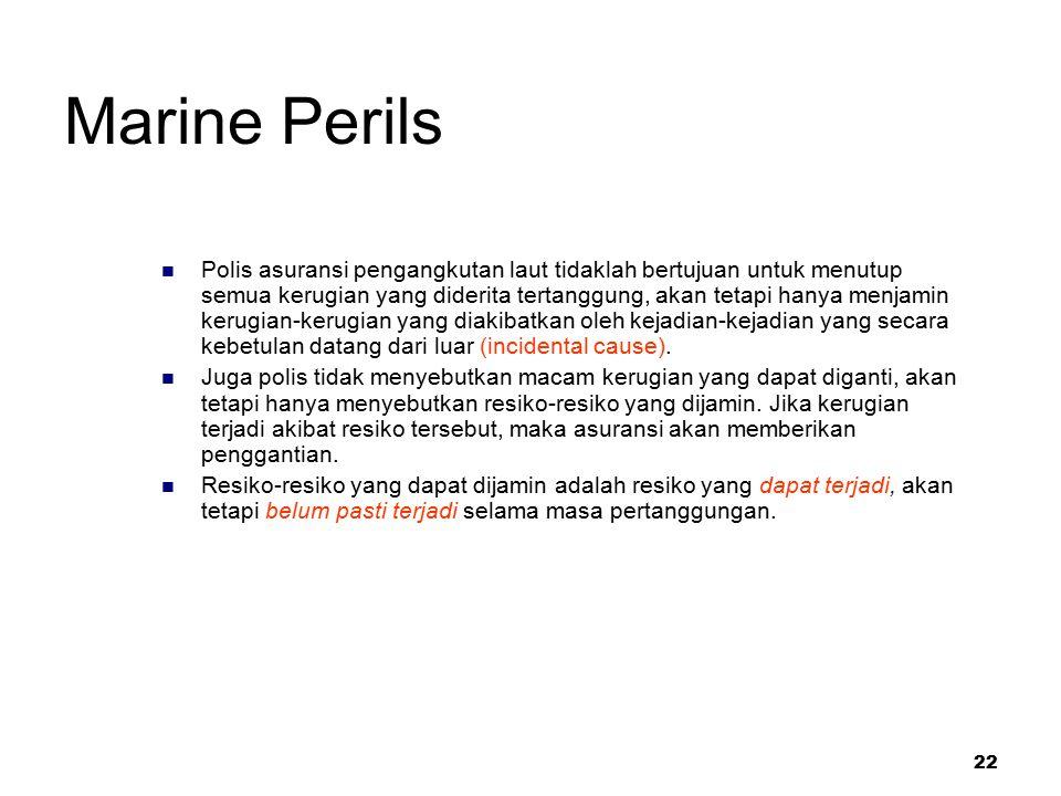 Marine Perils