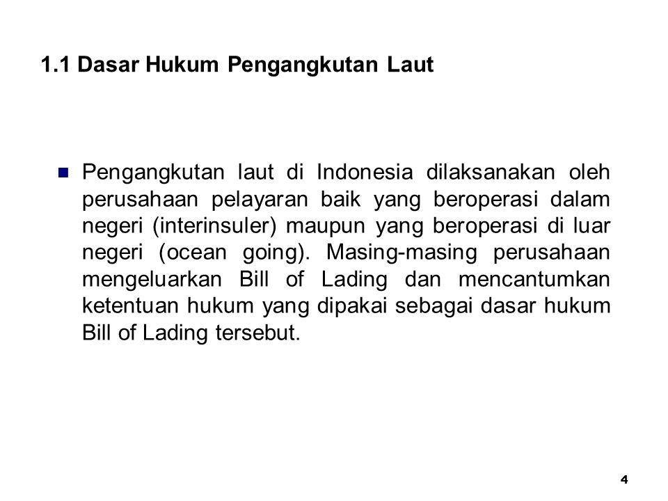 1.1 Dasar Hukum Pengangkutan Laut