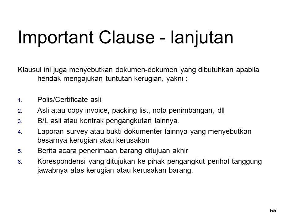 Important Clause - lanjutan