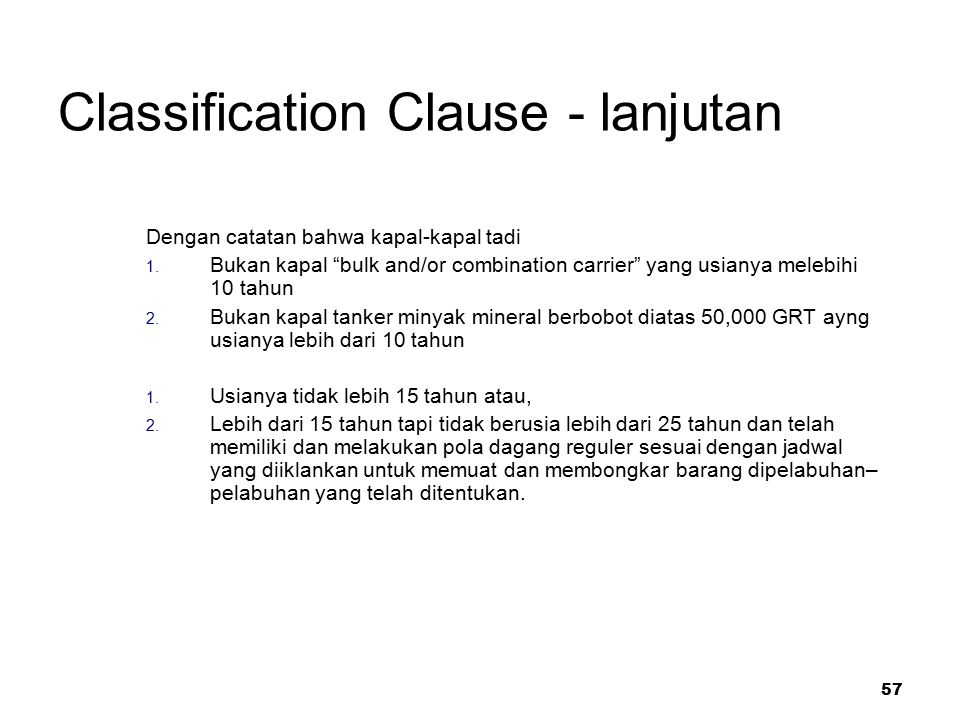 Classification Clause - lanjutan