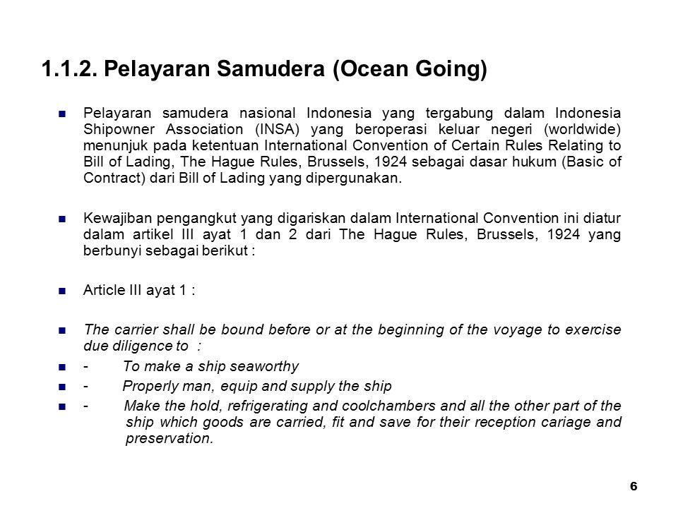 1.1.2. Pelayaran Samudera (Ocean Going)