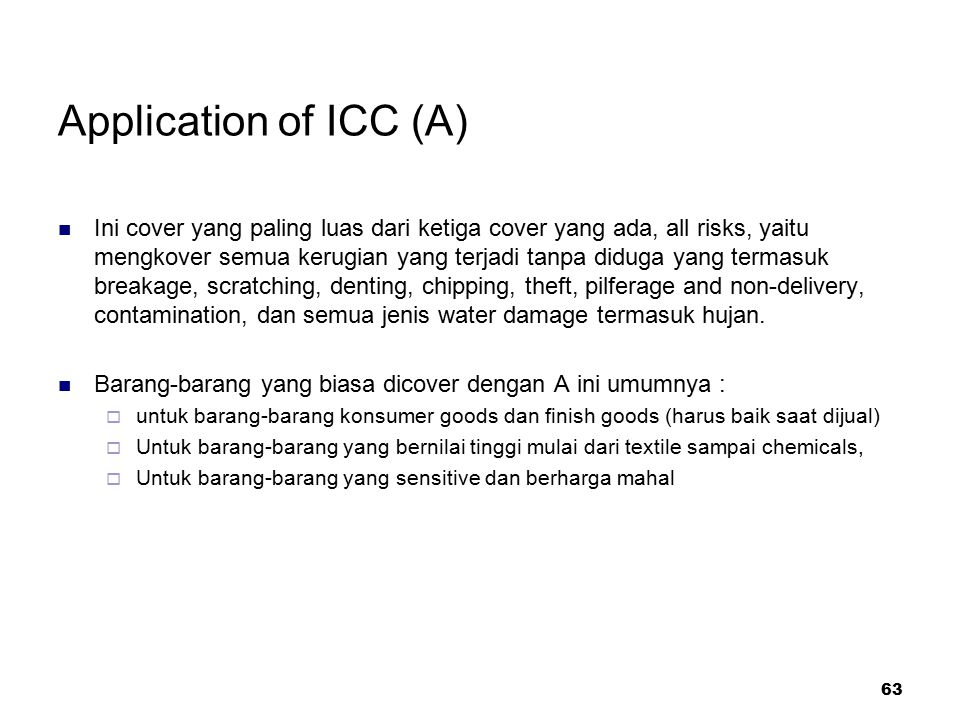 Application of ICC (A)