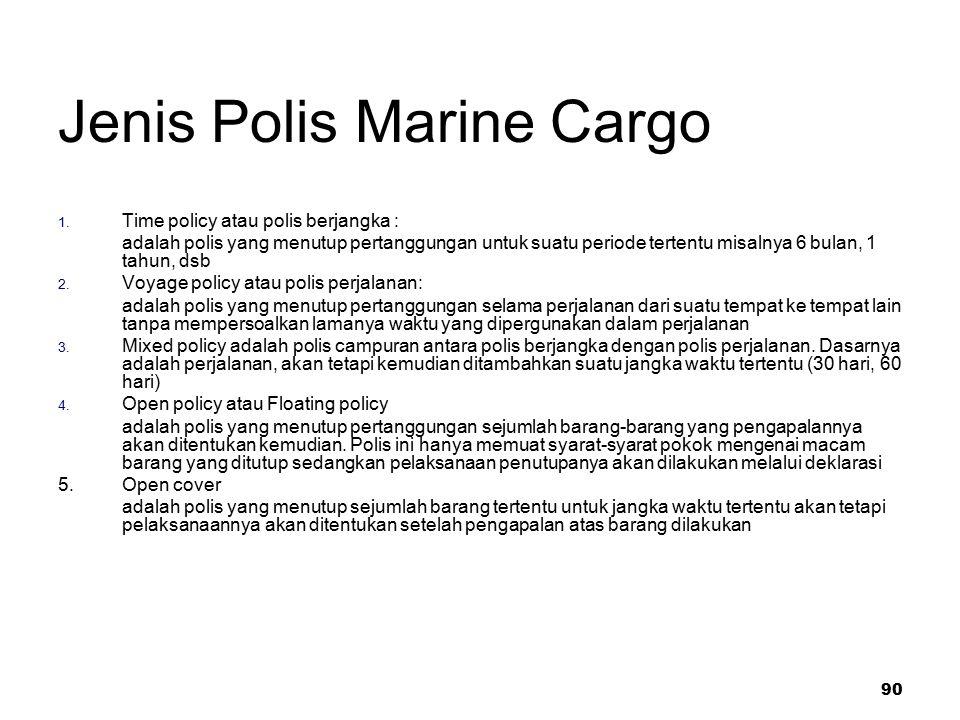 Jenis Polis Marine Cargo