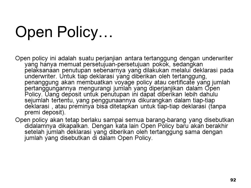 Open Policy…