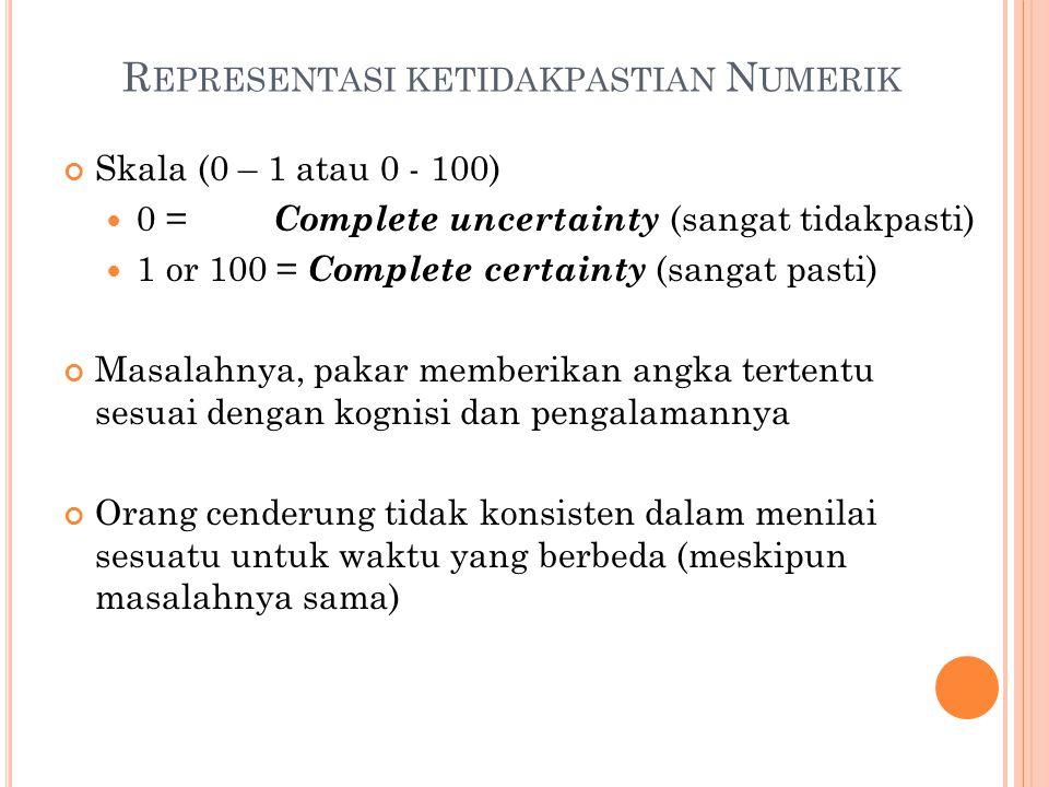 Representasi ketidakpastian Numerik