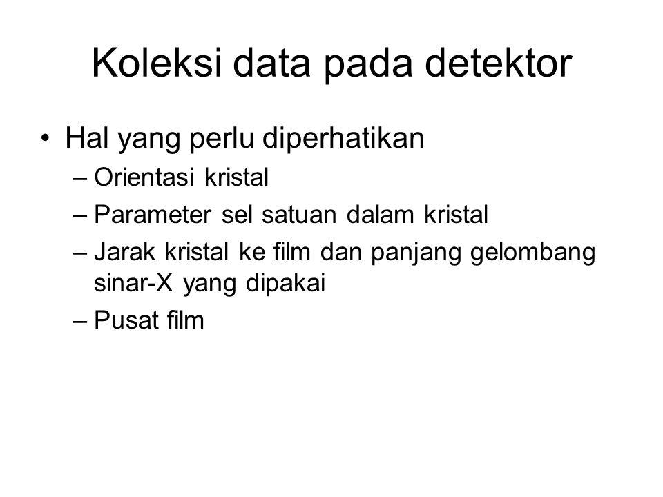 Koleksi data pada detektor