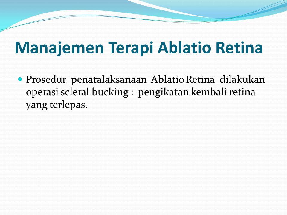 Manajemen Terapi Ablatio Retina