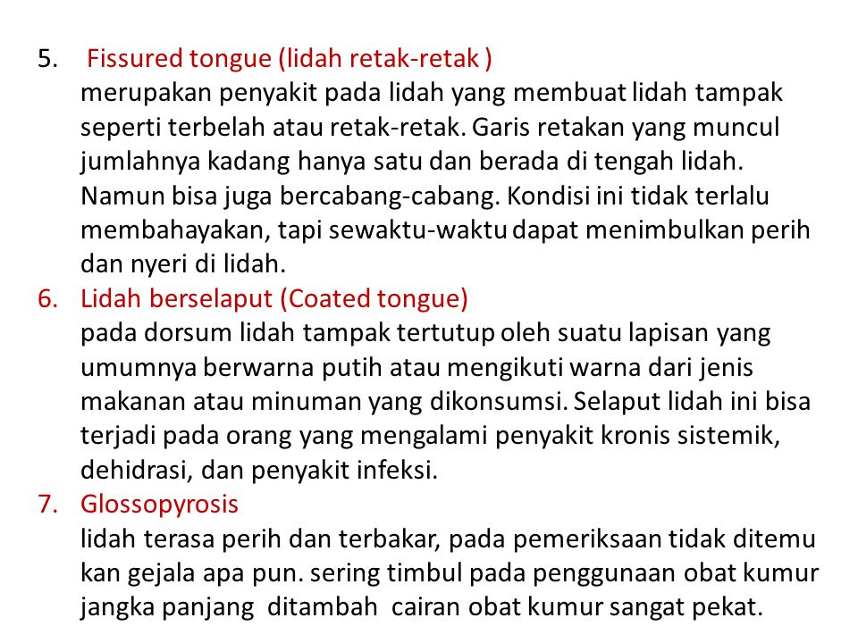 Fissured tongue (lidah retak-retak )