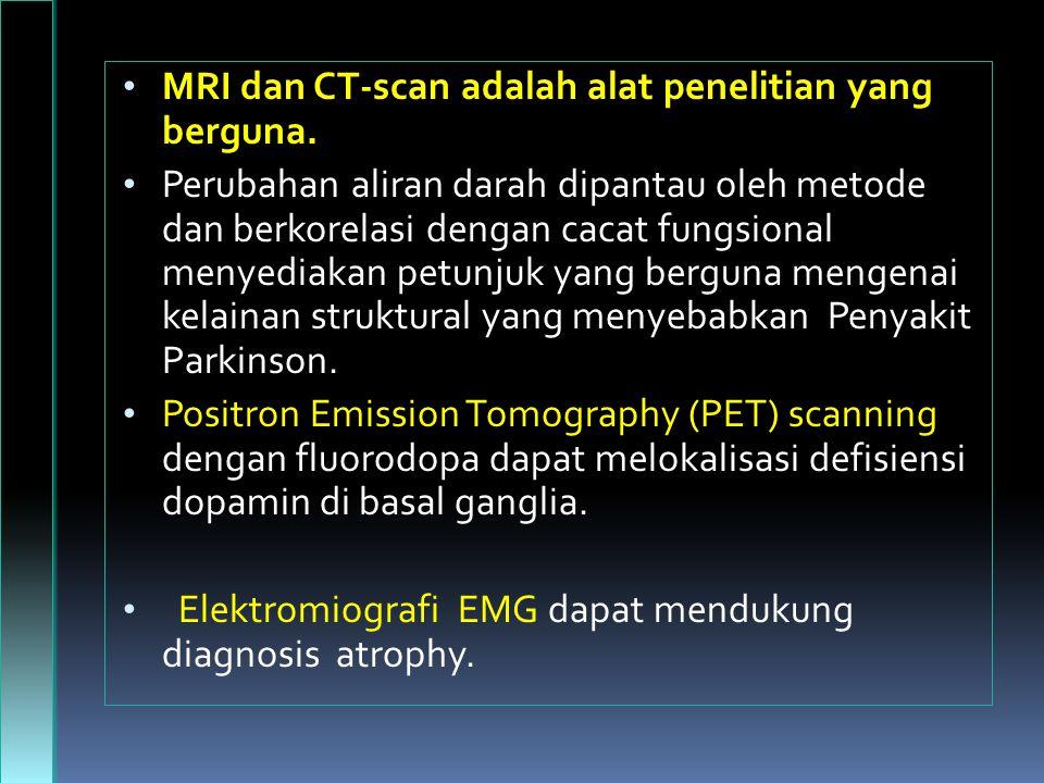 MRI dan CT-scan adalah alat penelitian yang berguna.