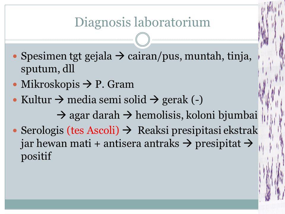 Diagnosis laboratorium