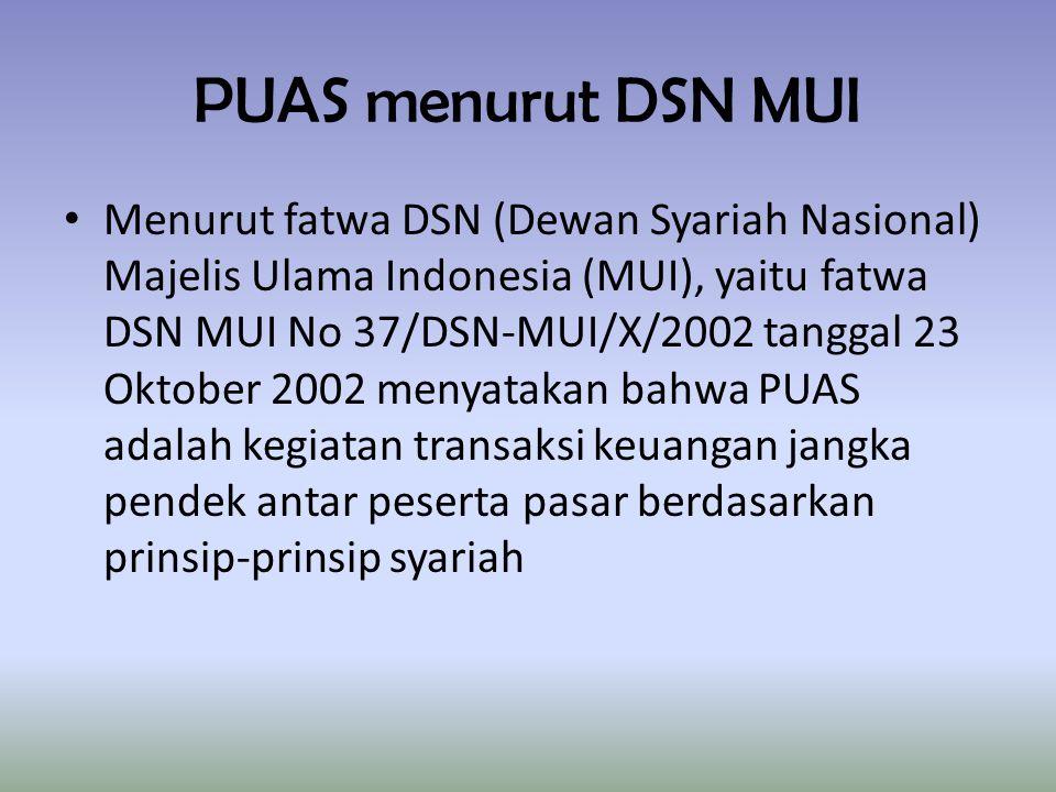 PUAS menurut DSN MUI