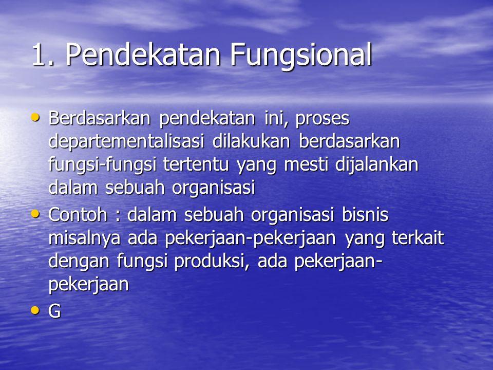 1. Pendekatan Fungsional