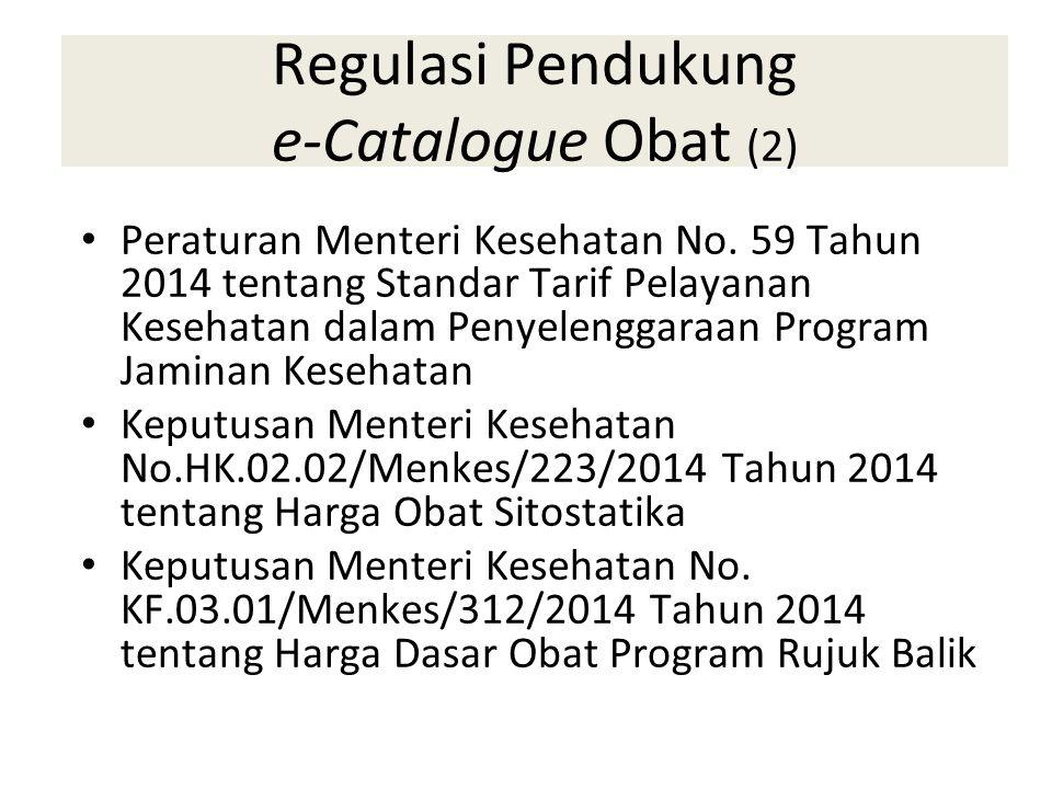Regulasi Pendukung e-Catalogue Obat (2)