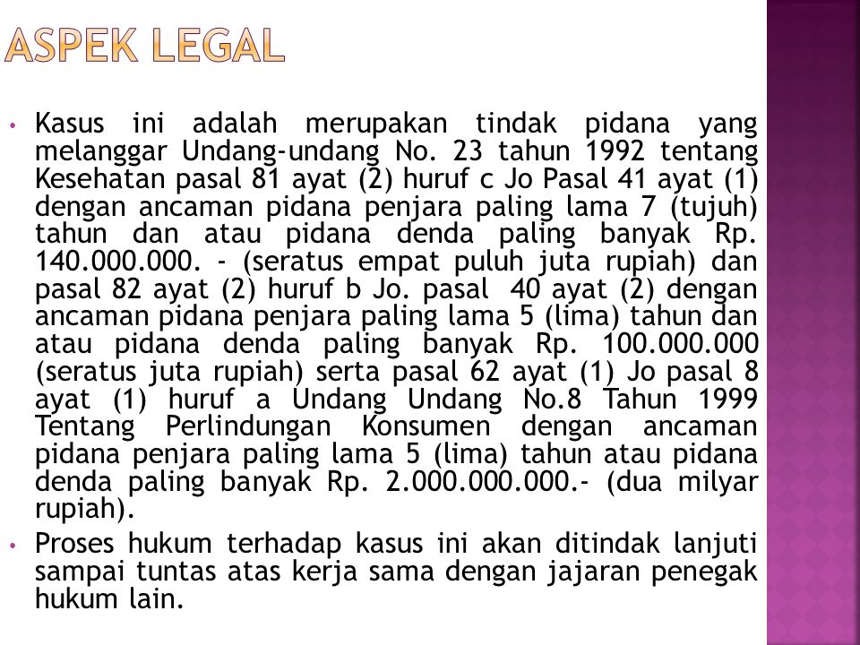 Aspek legal
