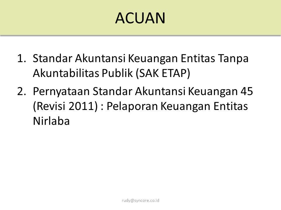 ACUAN Standar Akuntansi Keuangan Entitas Tanpa Akuntabilitas Publik (SAK ETAP)