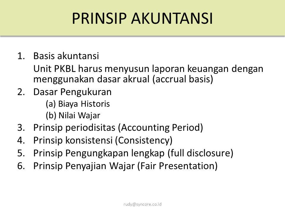 PRINSIP AKUNTANSI 1. Basis akuntansi