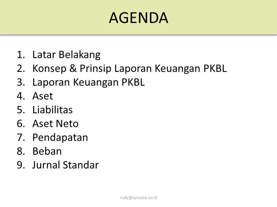 AGENDA Latar Belakang Konsep & Prinsip Laporan Keuangan PKBL