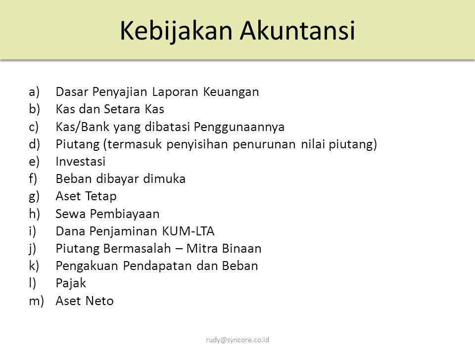 Kebijakan Akuntansi Dasar Penyajian Laporan Keuangan