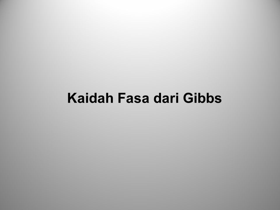 Kaidah Fasa dari Gibbs