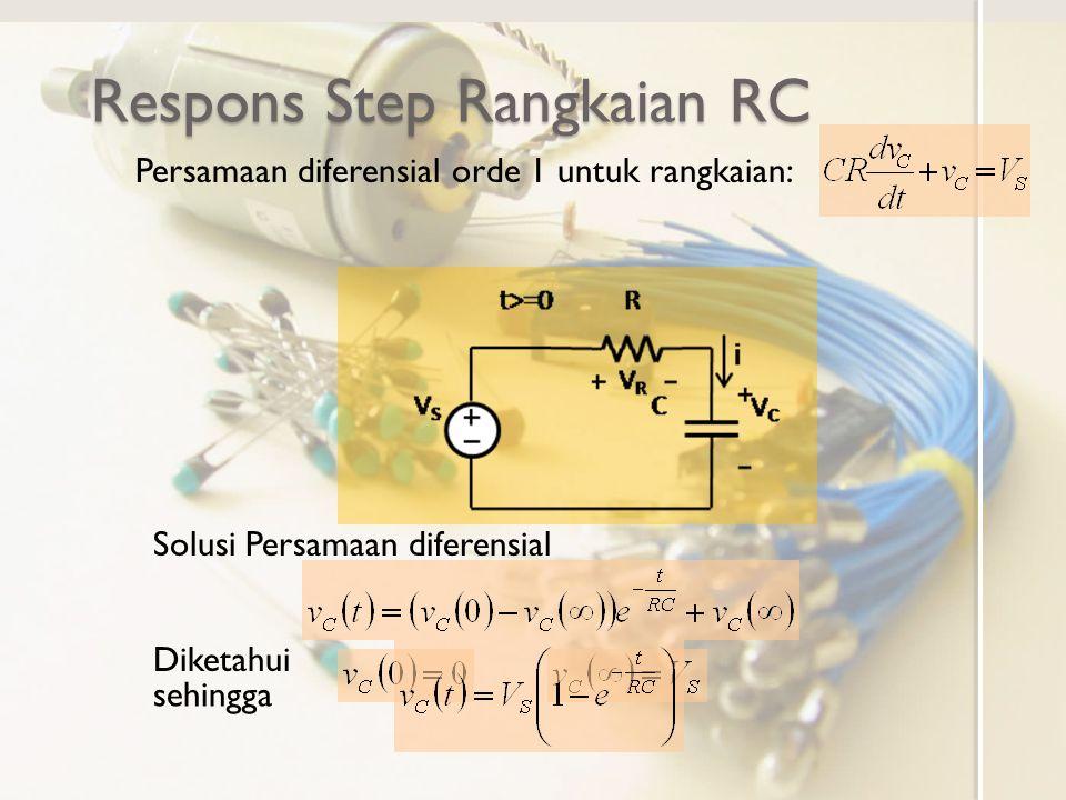 Respons Step Rangkaian RC