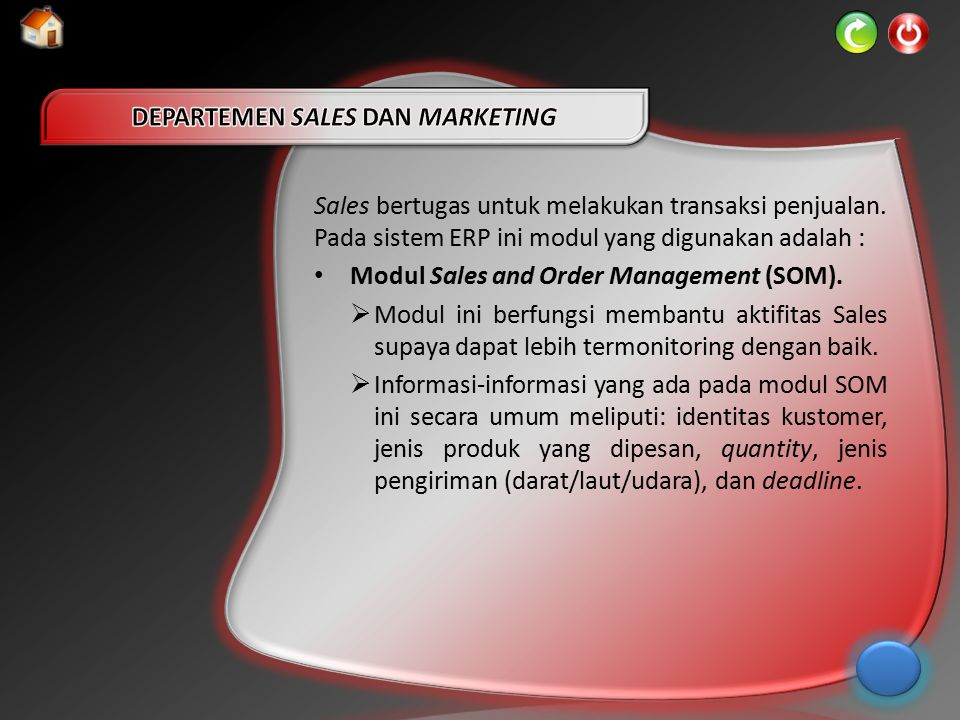 DEPARTEMEN SALES DAN MARKETING