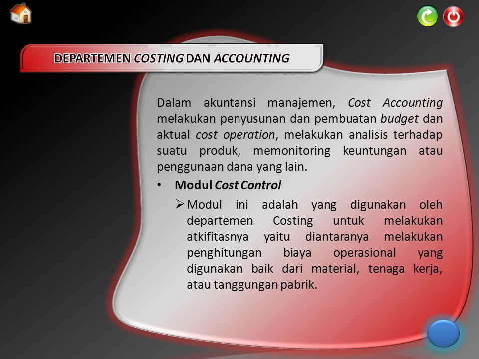 DEPARTEMEN COSTING DAN ACCOUNTING