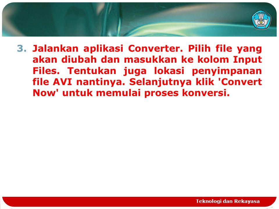 Jalankan aplikasi Converter