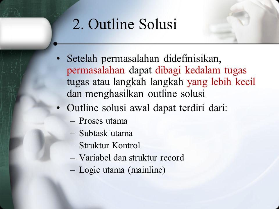 2. Outline Solusi