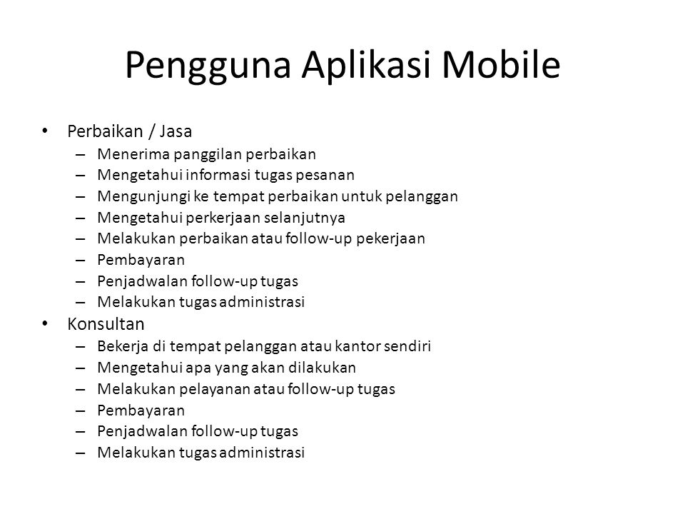 Pengguna Aplikasi Mobile