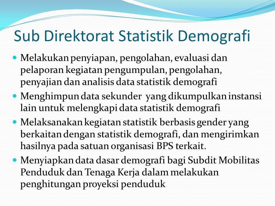 Sub Direktorat Statistik Demografi