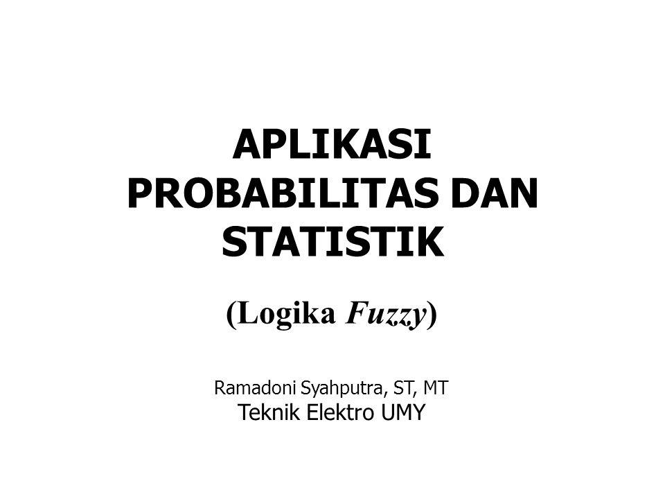 APLIKASI PROBABILITAS DAN STATISTIK