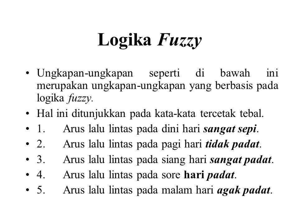 Logika Fuzzy Ungkapan-ungkapan seperti di bawah ini merupakan ungkapan-ungkapan yang berbasis pada logika fuzzy.